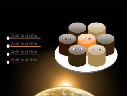 Sepia Sunrise in Space PowerPoint Template Slide 12