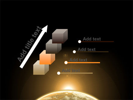 Sepia Sunrise in Space PowerPoint Template Slide 14