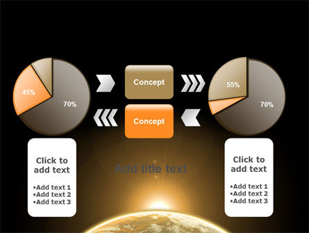 Sepia Sunrise in Space PowerPoint Template Slide 16