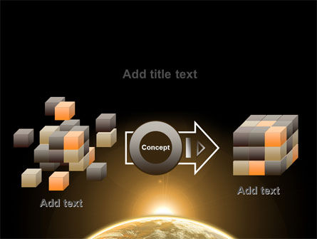 Sepia Sunrise in Space PowerPoint Template Slide 17