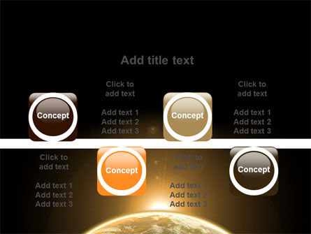 Sepia Sunrise in Space PowerPoint Template Slide 18