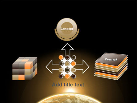 Sepia Sunrise in Space PowerPoint Template Slide 19