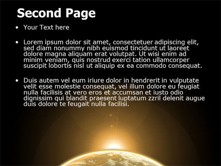 Sepia Sunrise in Space PowerPoint Template Slide 2