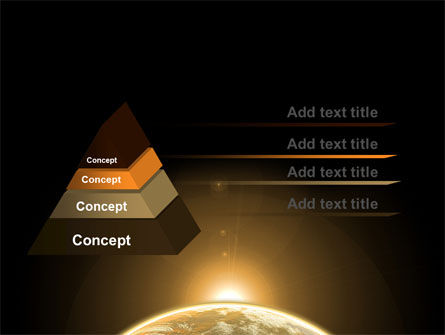 Sepia Sunrise in Space PowerPoint Template Slide 4