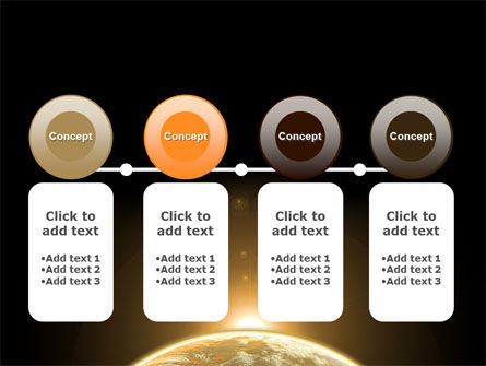 Sepia Sunrise in Space PowerPoint Template Slide 5
