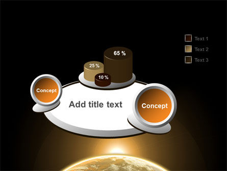 Sepia Sunrise in Space PowerPoint Template Slide 6