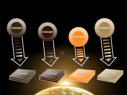 Sepia Sunrise in Space PowerPoint Template Slide 8