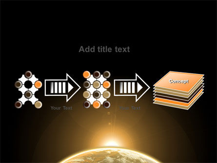 Sepia Sunrise in Space PowerPoint Template Slide 9