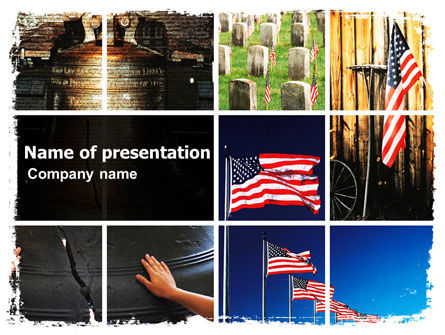 Holiday/Special Occasion: Memorial Day Collage PowerPoint Template #06684