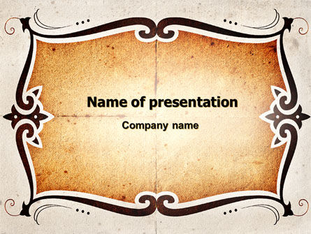 Abstract/Textures: Tracery PowerPoint Template #06685