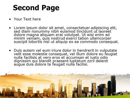 Bad Ecology City PowerPoint Template, Slide 2, 06687, Nature & Environment — PoweredTemplate.com