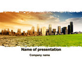 Nature & Environment: Bad Ecology City PowerPoint Template #06687