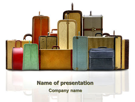 Luggage PowerPoint Template, 06688, Careers/Industry — PoweredTemplate.com