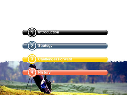 Golf Field PowerPoint Template, Slide 3, 06689, Sports — PoweredTemplate.com