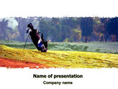 Sports: Golf Field PowerPoint Template #06689