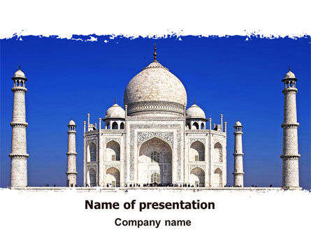 Religious/Spiritual: Indian Taj Mahal PowerPoint Template #06690