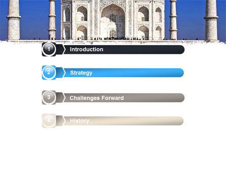 Indian Taj Mahal PowerPoint Template, Slide 3, 06690, Religious/Spiritual — PoweredTemplate.com
