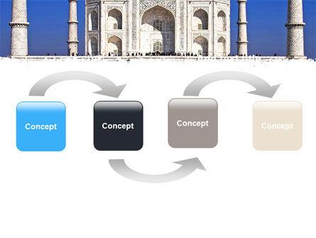 Indian Taj Mahal PowerPoint Template, Slide 4, 06690, Religious/Spiritual — PoweredTemplate.com
