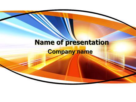 Bright Lighted Tunnel PowerPoint Template