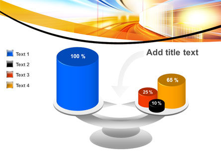 Bright Lighted Tunnel PowerPoint Template Slide 10