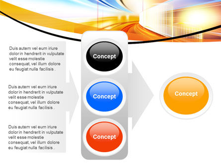 Bright Lighted Tunnel PowerPoint Template Slide 11