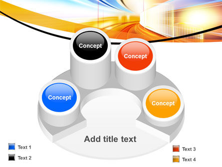 Bright Lighted Tunnel PowerPoint Template Slide 12