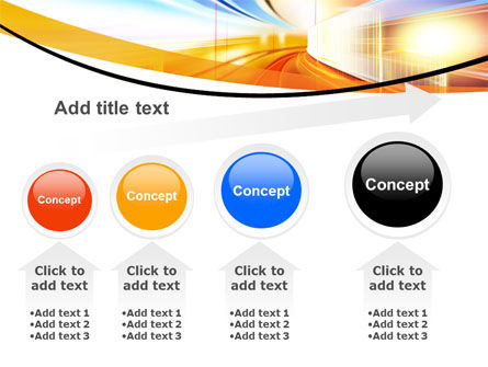 Bright Lighted Tunnel PowerPoint Template Slide 13