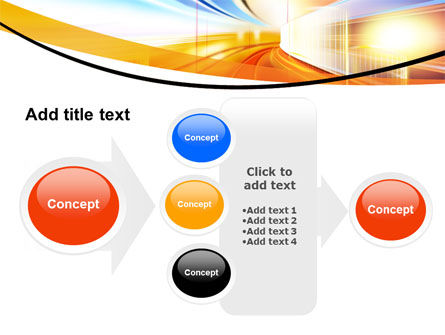 Bright Lighted Tunnel PowerPoint Template Slide 17