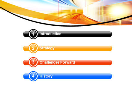 Bright Lighted Tunnel PowerPoint Template Slide 3