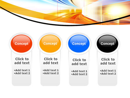 Bright Lighted Tunnel PowerPoint Template Slide 5
