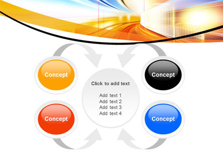 Bright Lighted Tunnel PowerPoint Template Slide 6