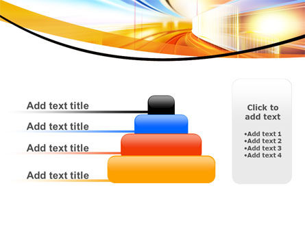Bright Lighted Tunnel PowerPoint Template Slide 8