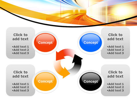 Bright Lighted Tunnel PowerPoint Template Slide 9