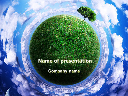 Nature & Environment: Green Planet In the Space PowerPoint Template #06693