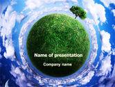 Nature & Environment: 宇宙の緑の惑星 - PowerPointテンプレート #06693