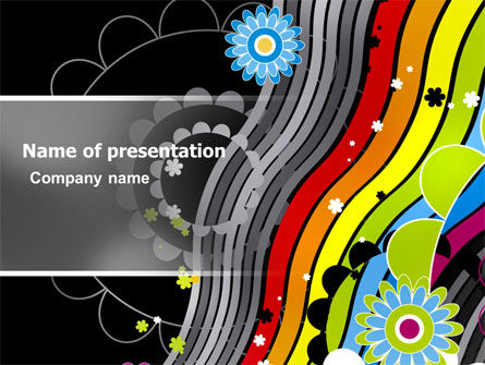 Education & Training: Abstract 70th Party PowerPoint Template #06694