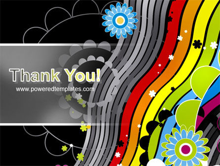 Abstract 70th Party PowerPoint Template Slide 20