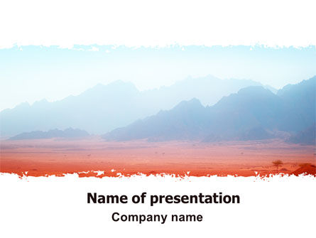 Fog Mountain View PowerPoint Template, 06695, Nature & Environment — PoweredTemplate.com