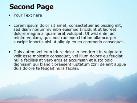 Fog Mountain View PowerPoint Template, Slide 2, 06695, Nature & Environment — PoweredTemplate.com