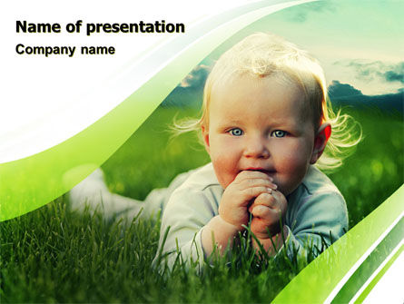 Smiling Baby PowerPoint Template, 06696, People — PoweredTemplate.com