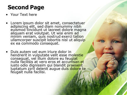 Smiling Baby PowerPoint Template, Slide 2, 06696, People — PoweredTemplate.com