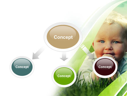 Smiling Baby PowerPoint Template, Slide 4, 06696, People — PoweredTemplate.com