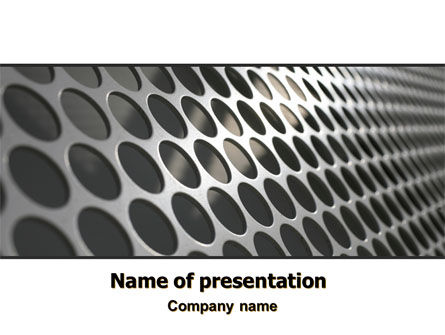 Technology and Science: Perforated Metal PowerPoint Template #06701