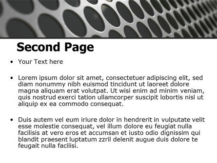 Perforated Metal PowerPoint Template Slide 2