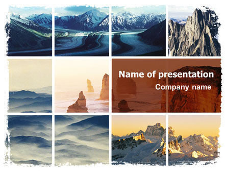 Nature & Environment: Mountain Scene PowerPoint Template #06702