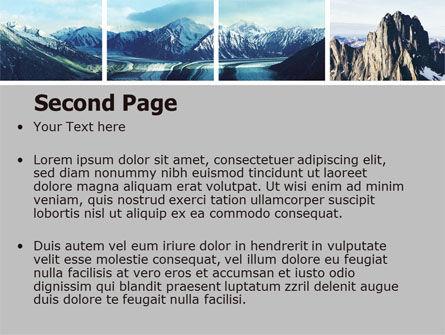 Mountain Scene PowerPoint Template, Slide 2, 06702, Nature & Environment — PoweredTemplate.com