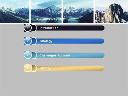 Mountain Scene PowerPoint Template, Slide 3, 06702, Nature & Environment — PoweredTemplate.com