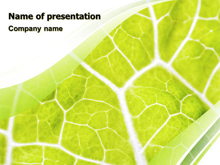 Nature & Environment: Leaf Texture PowerPoint Template #06705