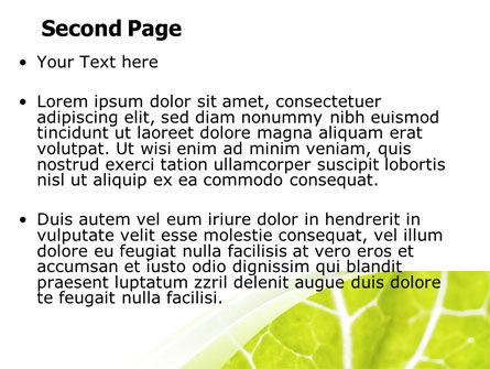 Leaf Texture PowerPoint Template, Slide 2, 06705, Nature & Environment — PoweredTemplate.com