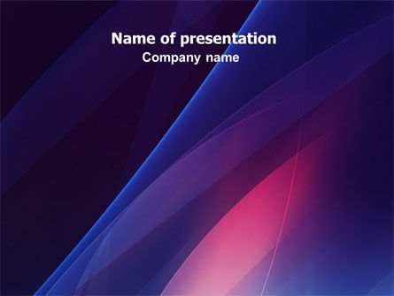 Blue and Pink PowerPoint Template, 06706, Abstract/Textures — PoweredTemplate.com